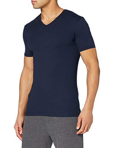 Eminence - T-Shirt - Col V - Les Classiques - Taille L - Homme - Bleu Marine - 100% Coton hypoallergénique