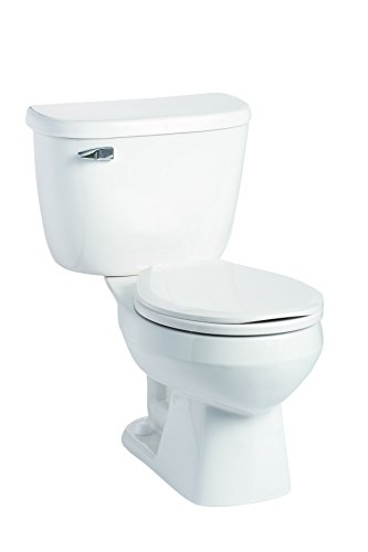 Mansfield Plumbing 146.123.WHT Quantum Round Front 1.6 GPF Pressure-Assist Toilet, White