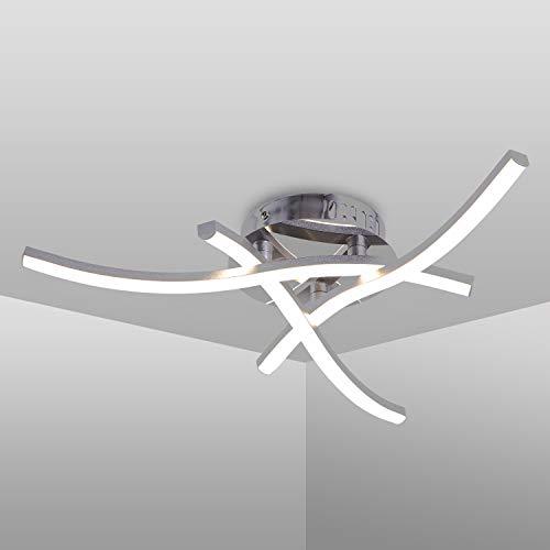 Lámpara de techo LED, lámpara de techo en forma de onda, luz blanca neutra 4000K, LED incorporado 18W 1600Lm, candelabro moderno para dormitorio, sala de estar, restaurante, 220V IP20