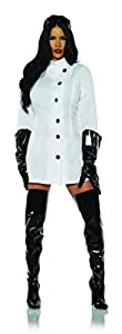 Underwraps Costumes bring you this Women's Weird Science Lab Coat Long Sleeve Mini Dress in White with Black Button Front Costume This costume comes in Women's sizes X-Small (2-4) Small (4-6) Medium (8-10) Large (12-14) X-Large (14-16) This sexy Mini...