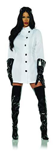 Underwraps Women's Mad Scientist Mini Dress Costume, White, Extra Large