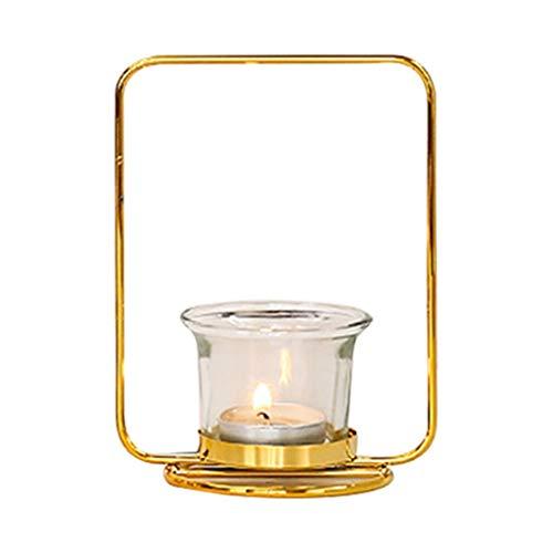 DUO ER Soporte de Vela Colgando Linterna Candlestica con lámpara de escoce de la Taza de Vela
