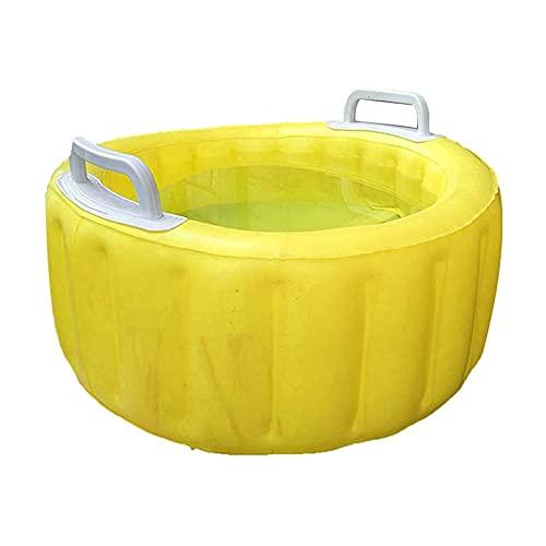 Lavabo Inflable Baño de pies Grande Inflable Tazón de SPA para Lavar los Platos Cubo de Hielo de Agua Artículos Diversos de la Ropa (Color: Amarillo)