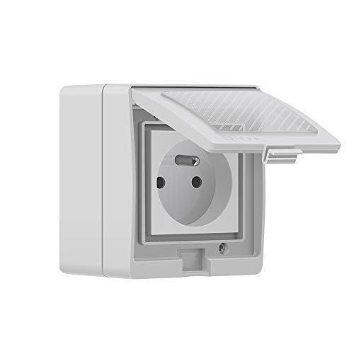 SONOFF S55 TPE-FR Prise Intelligente Extérieure 16A, Prise de Courant Connectée WiFi...
