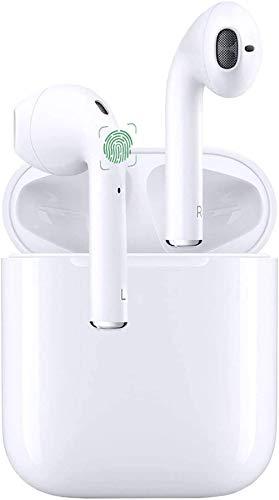 Bluetooth Kopfhörer,In-Ear Kabellose Kopfhörer,Bluetooth Headset,Sport-Kopfhörer,3D-Stereo mit 24H Ladekästchen und Integriertem Mikrofon Auto-Pairing für Airpods/Airpods pro/Android/IOS-Weiß