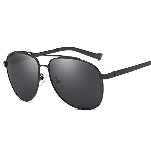 LKVNHP Neue Hohe Qualität (150Mm) Übergroße Herren Polarisierte Sonnenbrille Fahren Sonnenbrille Für Mann Breites Gesicht Sonnenbrille Männlichen Fahrer Aviation Uv400Schwarz