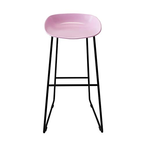 Chaise de Petit Déjeuner Hautes Tabourets de bar modernes Repose-pieds Siège en plastique PP Chaises de salle à manger pour cuisine/commerce/bureau/restaurant Jambes en métal noir