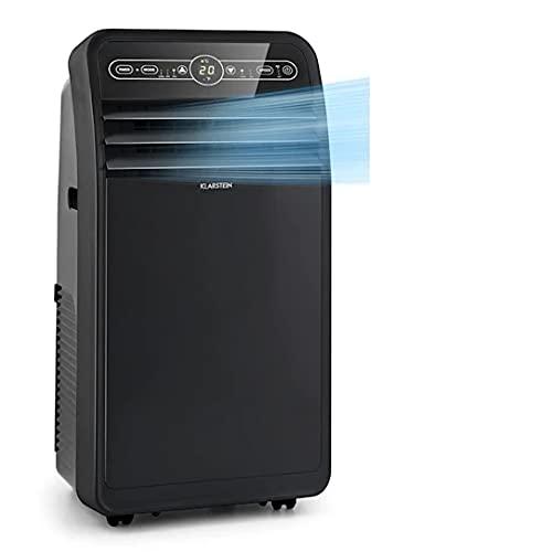 Klarstein Metrobreeze New York Smart - Aire acondicionado portátil 3 en 1, Ventilador, Humidificador, Control por app, Caudal de aire 360 m³/h, Hasta 59 m², Potencia 12000 BTU / 3,5 kW, Negro