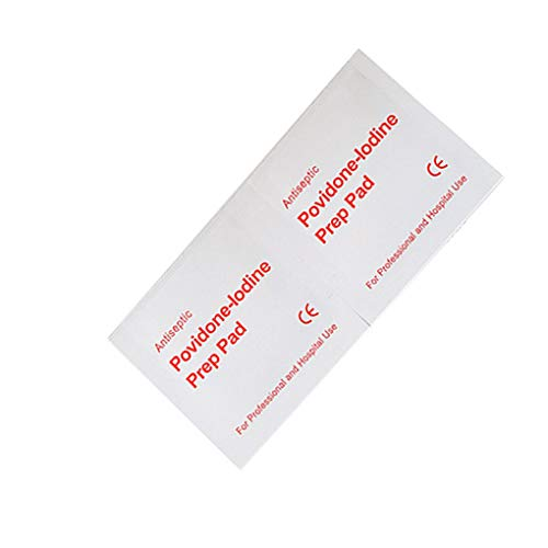 Jinghengrong Timlatte 20pcs / Set Povidone iodio disinfezione Foglio monouso sterilizzazione la Pulizia della Pelle la Cura delle ferite Iodophor di Cotone Pads Tissue