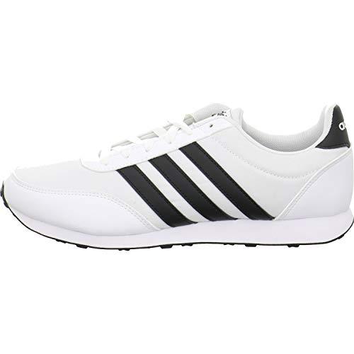 Adidas V Racer 2.0, Zapatillas de Deporte Hombre, Blanco (Ftwbla/Negbás/Negbás 000), 37 1/3 EU