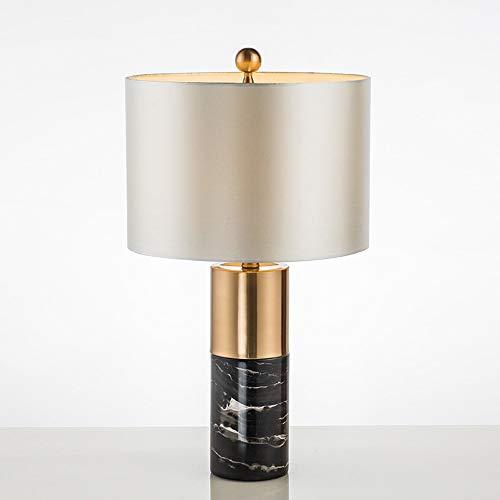 Smart lamp Lamp Modern Simple Luxury Marble LED Table Lamp Creative Home Living Room Desktop Bedroom Bedside Study Hotel Club Decoration Reading Light 38 * 68CM (Color : Black)