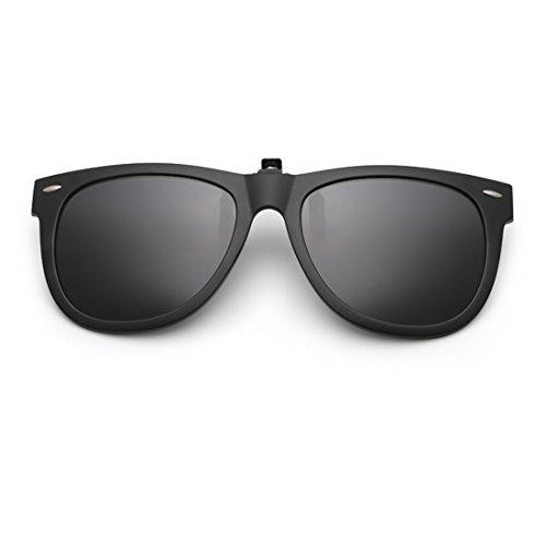 Dooppa Clip-on Polarized Sunglasses for Prescription Glasses - (Black)