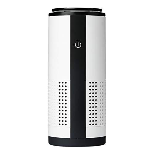 JHTTDZH Purificateurs d'air pour la maison, filtre HEPA H13 pour les allergies et les animaux domestiques, odeur 20 dB de sommeil silencieux dans la chambre et la cuisine (couleur : blanc)