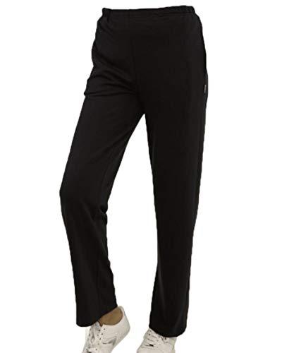 hajo Freizeithose Sporthose Trainingshose Jogginghose Sweathose Damen Farbe schwarz Größe 54