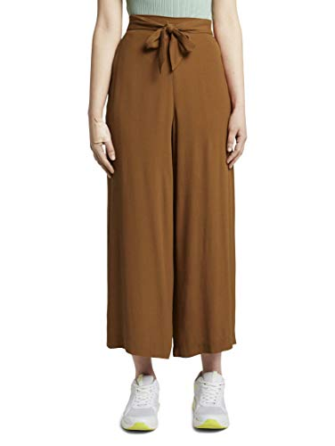 TOM TAILOR Denim Damen Fluid Hose, 22110-mango Brown, XXL