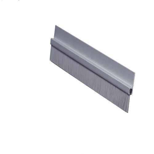 Pemko - 18061CNB36 Brush Door Bottom Sweep, Clear Anodized Aluminum with 0.625' Gray Nylon Brush insert, 0.25' Width, 1.375' H x 36' L