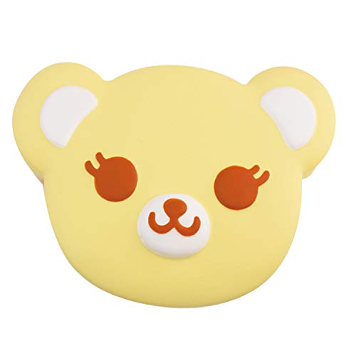 ibloom Tea time Bear Cute Slow Rising Squishy Toy (Yellow, Banana Scented) for Birthday Gifts, Party Favors, Stress Balls, Play at Home & Relieve Stress with Kawaii Squishies for Kids, Girls, Boys