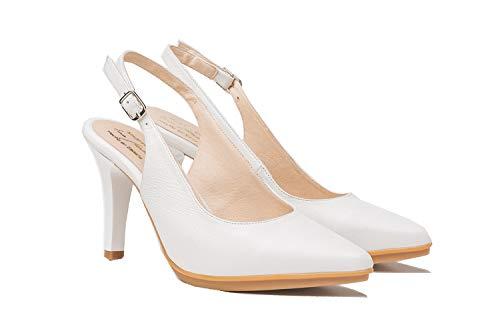 Zapatos de salón Mujer Color Blanco   Hechos de Piel   Disponibles...