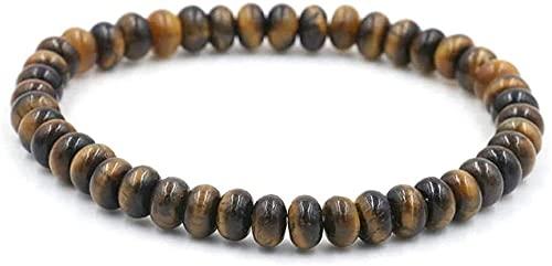 DJDEFK Pulsera de Feng Shui 7 Chakra Natural Tiger Eye Piedle Beads Elastic Bangle Mujer Joyería Yoga Energy Reiki Reza Charm Diffuser Regalo para mamá y amp; Novia