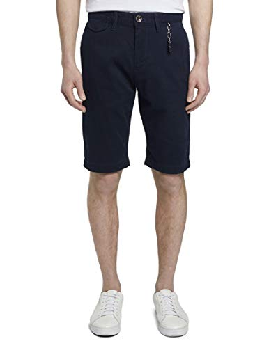 TOM TAILOR Herren Chino Shorts Hose, 10668-Sky Captain Blue, 36