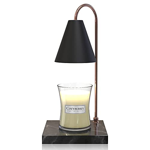 CozyBerry Cozy Candle Warmer Lamp, Compatible with Yankee Candle Large Jar, Black Marble, Candle Lamp, Dimmable Lamp Style Candle Melter for Scented Candle, Wax Melt, Small & Large Size Jar Candles