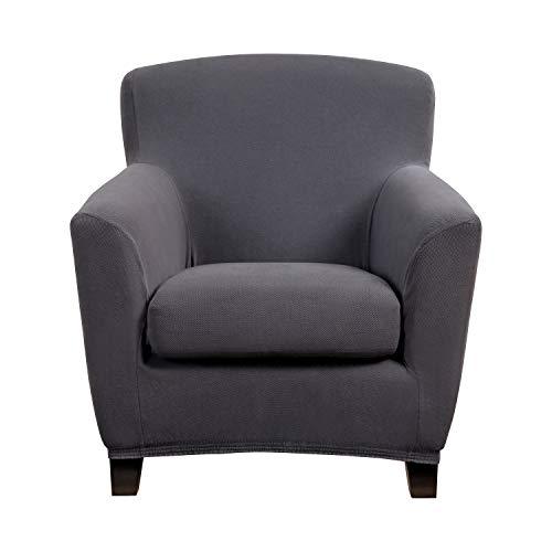 Bellboni Couchhusse für Einsitzer Couchsessel oder Loungesessel, Sofabezug, bi-Elastische...