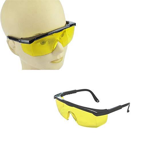 Profi 2X Schutzbrille mit gelben Gläsern, Sicherheitsbrille, Arbeitsbrille, Augenschutzbrille, Vollsichtbrille mit Seitenschutz