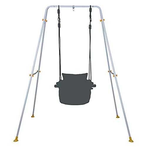 SHARESUN Baby opknoping stoel schommel, kinderen canvas gevoerde ademende comfortabele rugleuning schommelstoel houten, voor outdoor indoor camping reizen strand balkon tuin veranda