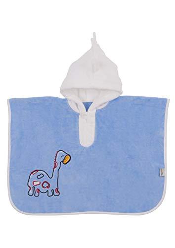 Slumbersac-Poncho de baño, toalla infantil 62 x 47 cm, diseño con bordado de dinosaurio