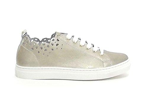 Twin Set Bambina, HS88CQ, Scarpe Pelle Platino Sneakers Nr 37 E8102