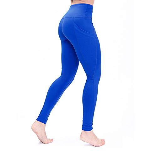WZ Leggings De Sudoracion Adelgazantes Mujer Fitness, Leggins Anticeluliticos Push Up Cintura Alta, Mallas Reductoras, Pantalones Compresion Termicos Sauna, Deporte Yoga Running,Blue,L