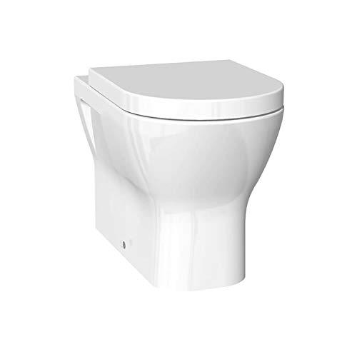 Rak Carr/ée Blanche Cuvette de toilettes avec fermeture en douceur Rabatable S/érie 600/Short Projection