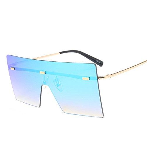 Limotai Sonnenbrilleframeless Frauen Sonnenbrille Neue Retro-Farbverlauf Ton Gläser Shopping Für Freizeit-Party, Wandern, Fahren Reise Sonnenbrillen, D312 EIS Blau