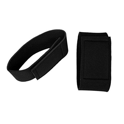 MagiDeal Neopren Hosenband mit Klettverschluss Schwarz Hosenbänder 1 Paar/Set