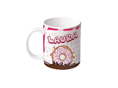 M.M. Group taza con nombre y la opinión Laura, 11ounces, cerámica, Multicolor