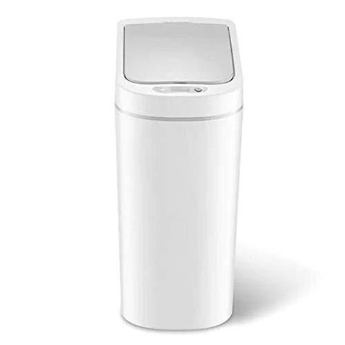 Tuneway AutomáTico Sin PresióN de Acero Inoxidable Sensor de Movimiento Infrarrojo Inteligente AutomáTico Papelera de Residuos Basura Cubo de Basura de Cocina con BateríA