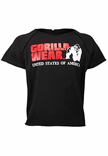 Gorilla Wear Classic Work Out Top - schwarz - Bodybuilding und Fitness Bekleidung Herren mit Logo Aufdruck für maximale Bewegungsfreiheit aus Baumwolle und Polyester, XXL-3XL