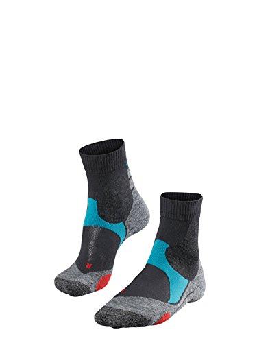 FALKE Unisex, Biking Socken BC3 für Damen und Herren, Fahrradsocken mit Baumwolle, 1 er Pack, Grau (Stone 3591), 42-43