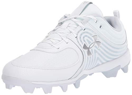 Under Armour Women's Glyde RM Softball Shoe, White (100)/White, 10.5