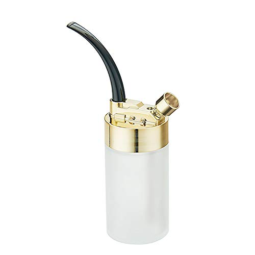 Afneembare Pijp, Stijlvolle Multipurpose Roken Van Sigaretten Cigar Pijpen Met Plastic Fles Filters Voor Duurzame Mannen Senioren Gift Van De Vader,Gold