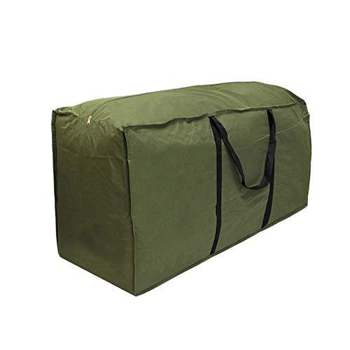 ZJONE Sac de rangement pour coussins de jardin - Grande taille - Imperméable - Résistant à la déchirure - Avec poignée de transport - Pour coussins et meubles de jardin - Extérieur (173 x 76 x 51 cm)