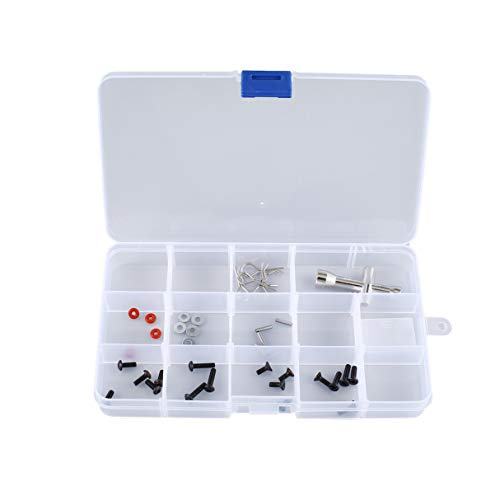 15 Celdas Caja de Herramientas portátil Piezas electrónicas Perlas de Tornillo Anillo Caja de componentes de joyería Caja de Almacenamiento de plástico Contenedor Rejilla 15