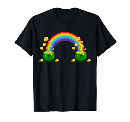 ARCO DE LA LLUVIA DE ORO DÍA DE SAN PATRICKS Camiseta