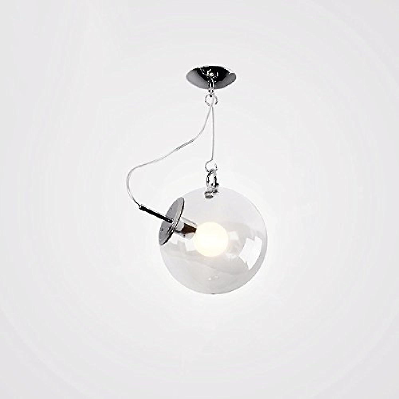 Nordic Sphrische Glaspendelleuchte Modernen Minimalistischen Mode Verstellbare Eisen Kronleuchter Schlafzimmer Wohnzimmer Deckenleuchte (design   4)