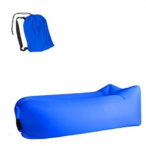 KCMDA Luftbett Reise Aufblasbares Bett Schlafkissen Camping Aufblasbares Sofa Lazy Bag Ultraleichte Daunenschlafsack Luftkissenbett Aufblasbare Sofa Lounge Chair 19,5 X 70,3 Zoll