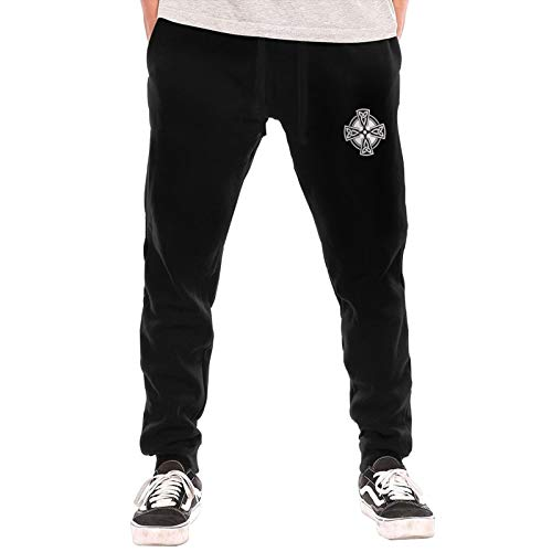 Celtic Cross Knot Irish Man Pant Casual Active Lounge Pant Basic Lounge Pant Black