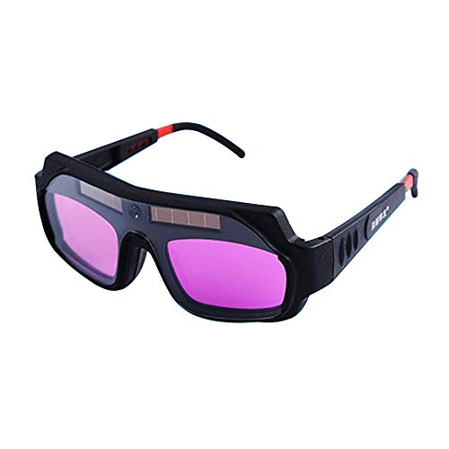 KKmoon - Gafas de soldadura eléctricas de luz variable automáticas para soldar con luz ultravioleta y luz ultravioleta, color negro