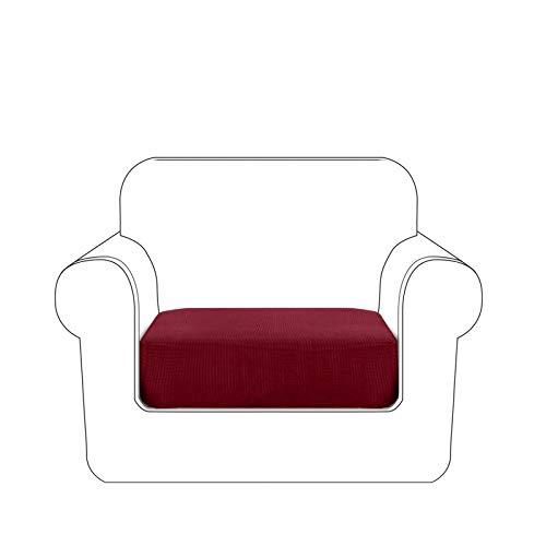 Granbest Premium - Fodera per Cuscino per Divano, Impermeabile, Tessuto Jacquard ad Alta Elasticità (1 Posto, Rosso Vinaccia)