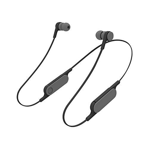 エレコム Bluetooth ブルートゥース イヤホン ワイヤレス bund [1ボタンのみのシンプルな機能設計] スモークブラック LBT-HPC14MPXBK