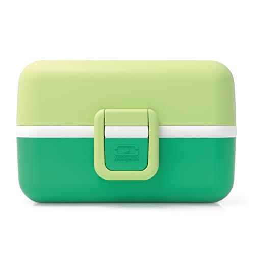 monbento - MB Tresor Verde Apple Fiambrera Infantil - Lonchera para niños 3 Compartimientos - Caja merienda - Bento Box sin BPA - Segura y Duradera